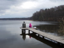 Gäste angeln im Groß Lebenzer See